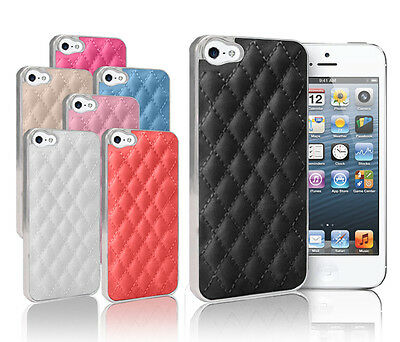 NEW LUXURY QUILTED SERIES CASE FOR APPLE IPHONE 5 FREE SCREEN PROTECTOR