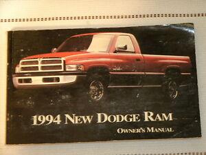 1994 new dodge ram owners manual 1st year model ebay. Black Bedroom Furniture Sets. Home Design Ideas