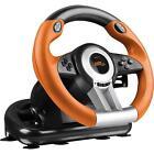 SPEEDLINK DRIFT O.Z. Racing Wheel USB Gaming Lenkrad für PC - Schwarz/Orange (SL-6695-BKOR-01)