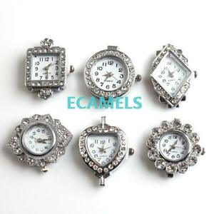 1pcs-Antique-Silver-Tone-Crystal-Rhinestone-Quartz-Watch-Face-For-Beading