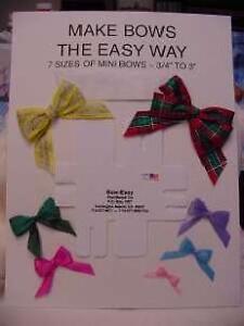 bow easy mini bow tying template ez boweasy 7 sizes ebay