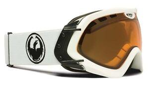 NEW-Dragon-Mace-White-Amber-Spherical-overcast-lens-mens-ski-snowboard-goggles