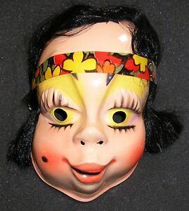 image is loading 1960s hippie girl halloween mask flower child made - Girl Halloween Masks