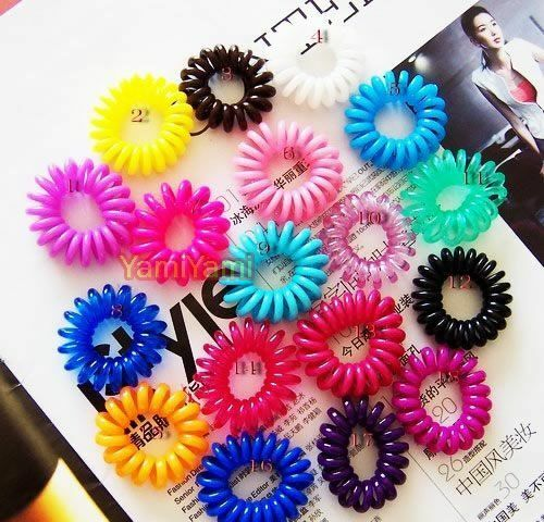 6x Multicolor Rubber Elastic Girl Hair Bands Ties Headband Rope Random Color
