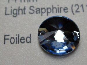 2pcs-Swarovski-Light-Sapphire-14mm-Round-Fabric-Swarovski-ref-3200