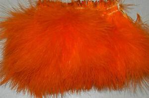 1-2-oz-Strung-Orange-Blood-Quill-Marabou-Feathers