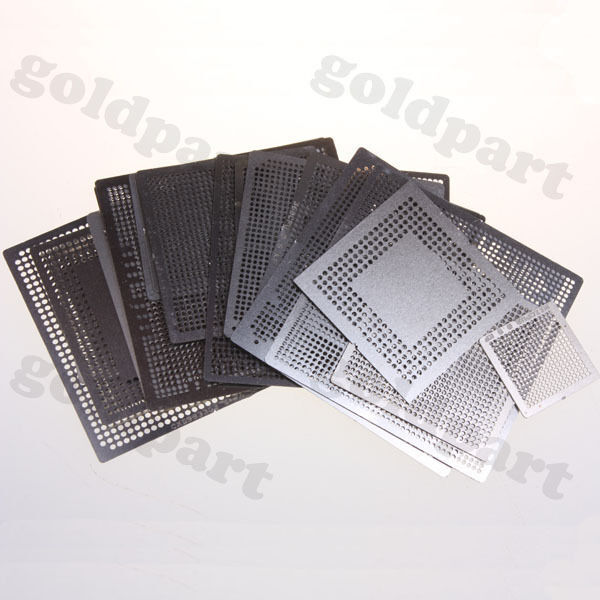 21pcs Heat Directly Rework BGA Reballing Stencils Template XBOX360 PS3 CPU GPU