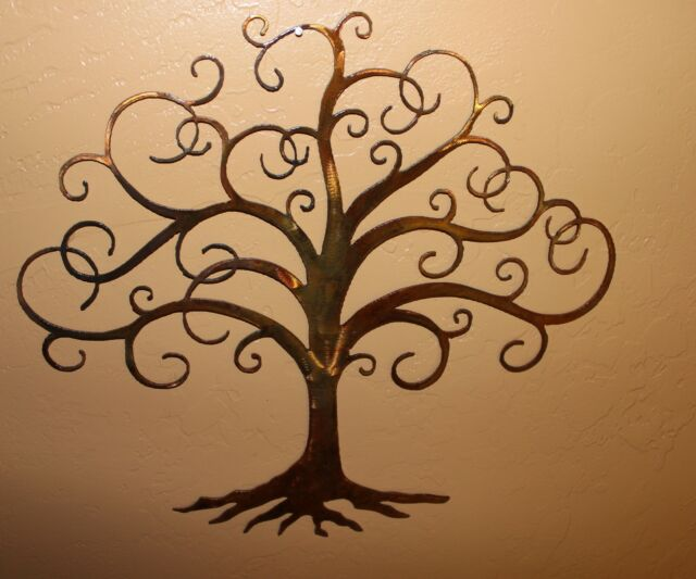 Swirled Tree of Life  Metal Wall Art Decor by HGMW