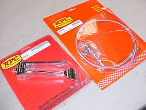 chrome gas pedal & 24'' braided throttle cable,rat rod