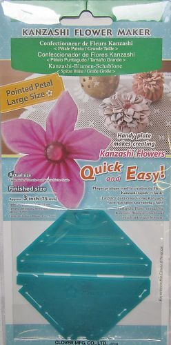 Gathered /& Round Choice Clover Kanzashi Flower Maker Pointed