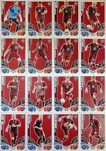 Match ATTAX 2011//2012 complet-set équipe choisir