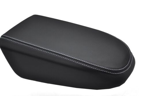 FITS FORD KUGA white stitch LEATHER ARMREST COVER