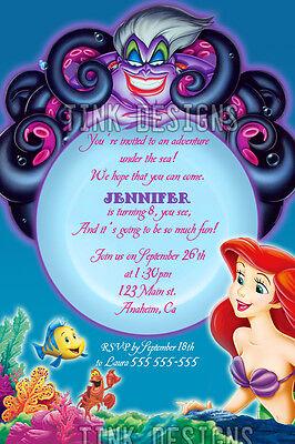 Invitations Little Mermaid Ariel Birthday party favors
