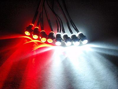 RC LED LIGHT KIT,4 WHITE 4 RED REVO, Slash, Jato, TRAXXAS, TMAXX, HPI 4W4R 5mm