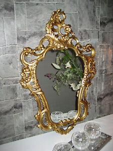 wandspiegel oval vintage badspiegel antik gold 50x76 barock bilderrahmen ebay. Black Bedroom Furniture Sets. Home Design Ideas