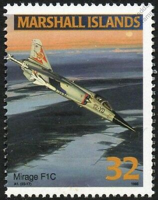 French Air Force Dassault MIRAGE F1 / F1C Jet Aircraft Airplane Mint Stamp