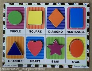 Melissa & Doug 3730 Chunky Puzzle Shapes 12in x 9in