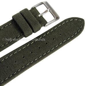 18mm-CORDURA-Green-Hadley-Roma-Water-Rstnt-Nylon-Canvas-Watch-Band-Strap-MS850