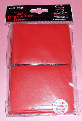 Ultra Pro 100 Deck Protector RED CARD SLEEVES for mtg Magic the Gathering