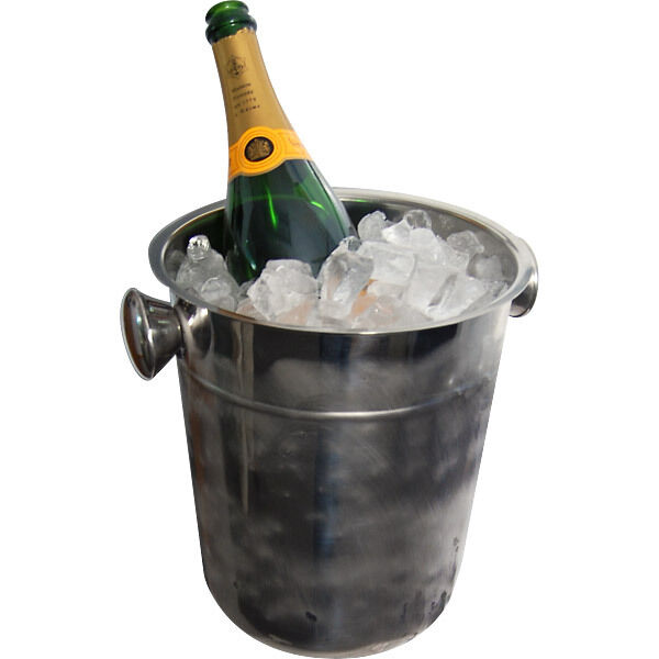 Champagne & Wine Bucket - Stainless Steel - 8 Quart - Serve Ice at Parties!