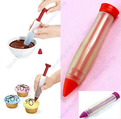 Silicone RFF Writing Pen Cake Cookie Pastry Cream Chocolate Decorating Syringe