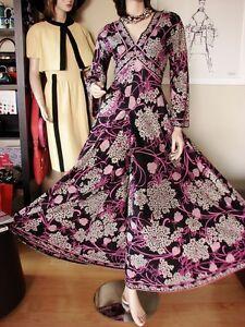 70s-vtg-Emilio-Pucci-SILK-JERSEY-Palazzo-Jumpsuit-Gown-RARE-Maxi-Rich-Hippie