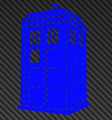 Dr Who Tardis decal - Dr Who Car / Window / Bumper / Wall vinyl sticker