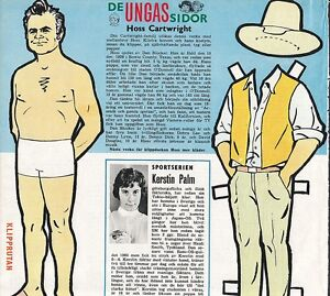 Bonanza-Dan-Blocker-Rare-Vintage-1960s-Western-TV-Star-Paper-Doll