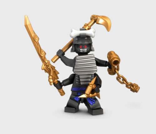 NEW LEGO NINJAGO LORD GARMADON MINIFIG from 9450 figure 4 ARMS minifigure weapon