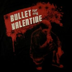 BULLET-FOR-MY-VALENTINE-cd-lgo-RED-GUNS-Official-SHIRT-SMALL-New-oop
