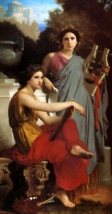 ART-AND-LITERATURE-MUSIC-PAINTING-BY-BOUGUEREAU-ON-PAPER-REPRO-SMALL