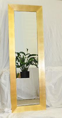Modern Design Spiegel Goldspiegel  Wandspiegel 178x58 cm GOLD ELEGANT NEU