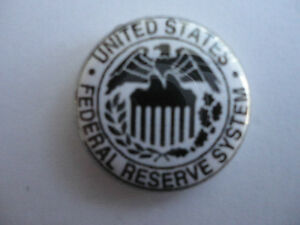US-Federal-Reserve-System-25mm-Button-Lapel-Pin-Badge-New