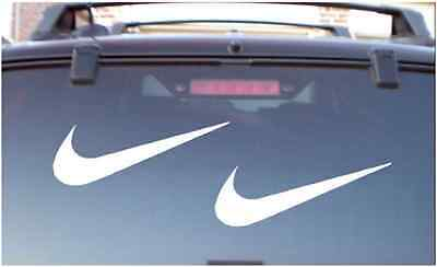"Nike Swoosh Decal 6"" Sticker Vinyl (Set of 2) Check logo"