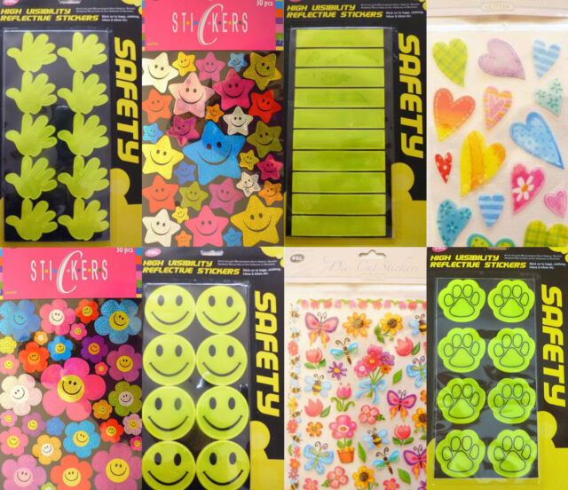 children school classroom stationary VARIOUS yellow reflective safety stickers