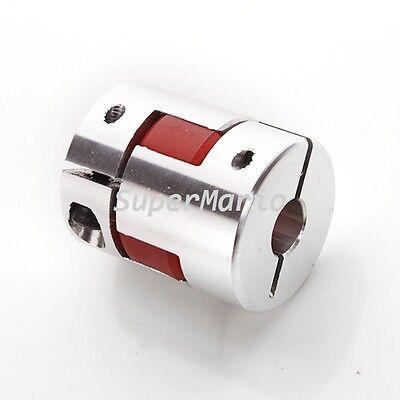 8mm X 10mm CNC Flexible Jaw Spider Plum Coupling Shaft Coupler D 25mm L30mm