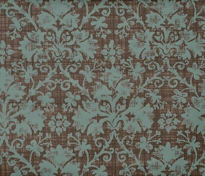 Slate Blue & Rich Chocolate Woven Damask Wallpaper  Double Roll Bolts