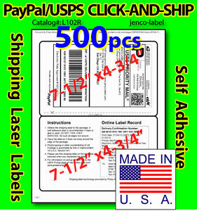 L102r 500 paypal usps click and ship shipping labels ebay for How to send a shipping label to someone