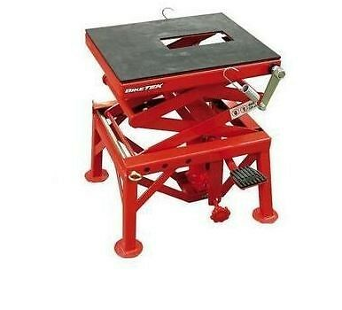 Biketek MX Motocross Trail Bike Hydraulic Scissor Lift Stand Motorcycle Table