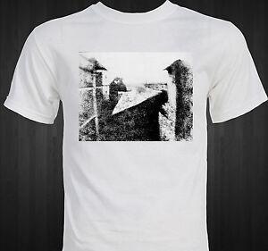 First-Photograph-ever-taken-1826-Nicephore-Niepce-unique-T-shirt