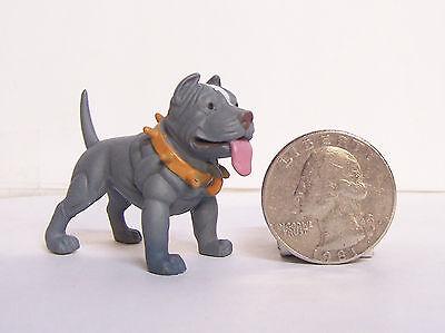 "New Blue Pit Pitbull Dog 2"" Homies Hood Hounds Figure Figurine"