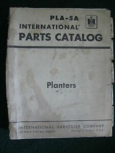 LARGE-1960-039-s-IH-INTERNATIONAL-PLA-5-PLANTERS-MOST-MODELS-PARTS-CATALOG-MANUAL