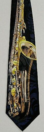 NEW Saxophone Sax Saxaphone Band Horn Novelty Musical Instrument Necktie #1060