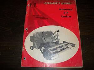 INTERNATIONAL-315-COMBINE-OPERATORS-MANAUL-CASE-IH