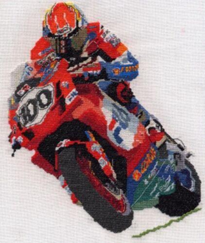 John Reynolds Neil Hodgson Fila Ducati superbike cross stitch kit Troy Corser