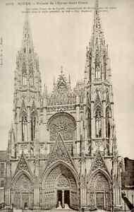 76-Cpsm-Rouen-Fassade-von-der-Kirche-st-Ouen