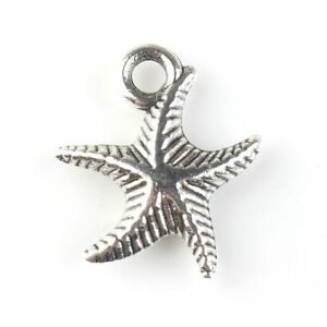50x-143029-Wholesale-New-Charms-Starfish-Antique-Silver-Alloy-Pendant-Findings