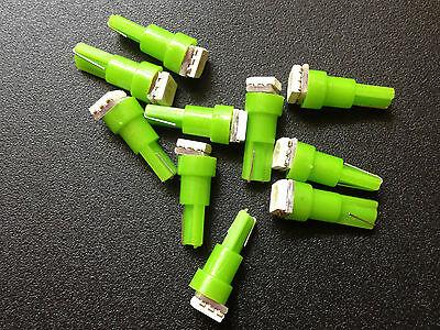 Fits Toyota 10x Green BRIGHT 12V LEDs Wedge Instrument Panel Light Bulb Lamp NOS