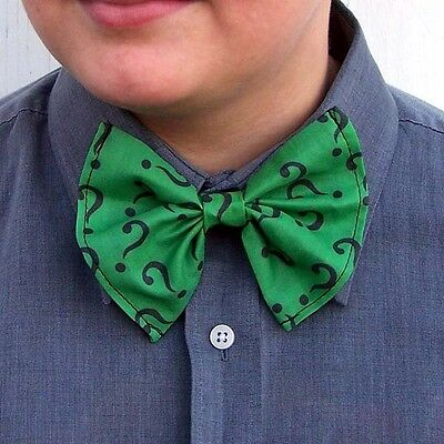 Question Mark Box Bow Tie The Riddler Inspired bowtie Boys Men Dads