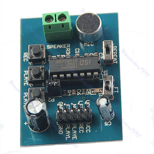 On-board Microphone ISD1820 Voice Sound Board Recording Recorder Playback Module